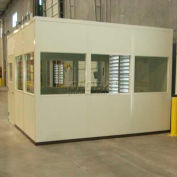 Portafab Modular Inplant Office Class A Fire & Sound Rated Steel Panels 3 Wall, 20x20, Gray