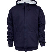 National Safety Apparel® Heavyweight Lined Zip Front FR Hoodie, M, Navy, C21IFWE05MD