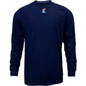 National Safety Apparel® FR Control 2.0 Long Sleeve T-Shirt, S, Navy, C52FKSRLSSM