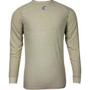 National Safety Apparel® FR Control 2.0 Long Sleeve T-Shirt, L, Khaki, C52JKSRLSLG