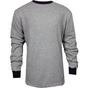TECGEN CC™ Flame Resistant Long Sleeve T-Shirt, L, Gray, C541NGELSLG