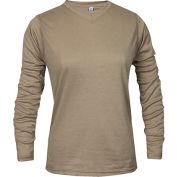 National Safety Apparel® Women's TrueComfort® FR Long Sleeve T-Shirt, M, Khaki, C54VKLSWMD
