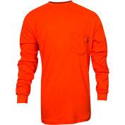 VIZABLE® Flame Resistant TrueComfort® Long Sleeve Flame Resistant T-Shirt, M, Orange