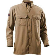 DRIFIRE® Flame Resistant Utility Shirt, L, Tan, DF2-324LS-KH-LG