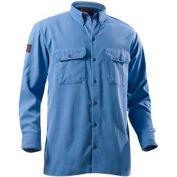 DRIFIRE® Flame Resistant Utility Shirt, L, Medium Blue, DF2-324LS-MB-LG
