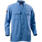 DRIFIRE® Flame Resistant Utility Shirt, XL, Medium Blue, DF2-324LS-MB-XL