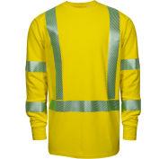 DRIFIRE® Performance Hi-Vis Long Sleeve FR T-Shirt, Type R, Class 3, XL, Yellow