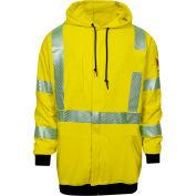 DRIFIRE® Hi-Vis Flame Resistant Hoodie, 2XL, Fluorescent Yellow