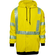 DRIFIRE® Hi-Vis Flame Resistant Hoodie, 3XL, Fluorescent Yellow