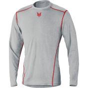 DRIFIRE® PRIME Long Sleeve Flame Resistant T-Shirt, XL, Gray, DF2-CM-762-PLS-RG-XL