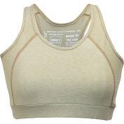 National Safety Apparel® FR Control 2.0 Women's Sports Bra, L, Tan, FRBRAJKLG