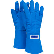 National Safety Apparel® Waterproof Mid-Arm Length Cryogenic Glove, Medium, Blue, G99CRBEPMDMA