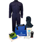 ArcGuard® KIT2CV08B3X11 8 cal/cm2 Arc Flash Kit w/ FR Coverall w/ Balaclava, 3XL, Glove Size 11