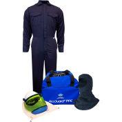 ArcGuard® KIT2CV11NGB2X 12 cal UltraSoft Arc Flash Kit FR Coverall & Balaclava, 2XL, No Gloves