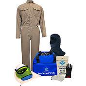 ArcGuard® KIT2CVPR08BL08 8 cal DuPont Protera Arc Flash Kit, FR Coverall & Balaclava, L, Sz 08