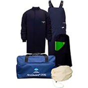 ArcGuard® KIT4SC40NG 40 cal Compliance Arc Flash Kit Short Coat & Bib Overall, LG, No Gloves