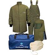 ArcGuard® KIT4SCLT40NG 40 cal RevoLite Arc Flash Kit Short Coat & Bib Overall, LG, No Gloves