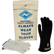 ArcGuard® Class 00 ArcGuard Rubber Voltage Glove Kit, Black, Size 8, KITGC00B08