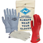 ArcGuard® Class 00 ArcGuard Rubber Voltage Glove Premium Kit, Red, Size 9, KITGC00R09AG