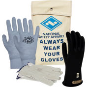 ArcGuard® Class 0 ArcGuard Rubber Voltage Glove Premium Kit, Black, Size 8, KITGC0B08AG