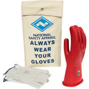 ArcGuard® Class 0 ArcGuard Rubber Voltage Glove Kit, Red, Size 8, KITGC008R