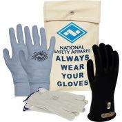 ArcGuard® Class 0 ArcGuard Rubber Voltage Glove Premium Kit, Black, Size 10, KITGC0B10AG
