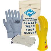 ArcGuard® Class 0 ArcGuard Rubber Voltage Glove Premium Kit, Yellow, Size 10, KITGC0Y10AG