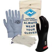 ArcGuard® Class 0 ArcGuard Rubber Voltage Glove Kit, Black, Size 11, KITGC011