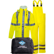 Arc H2O™ Flame Resistant Hi-Vis Rainwear Kit, ANSI Class 3, Type R, Yellow, L