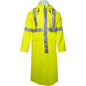 "Arc H2O™ 48"" Flame Resistant Hi-Vis Trench Coat, ANSI Class 3, Type R, Yellow, L"