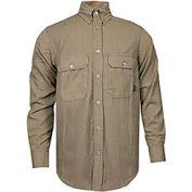 TECGEN CC™ 6 oz. Flame Resistant Work Shirt, XL, Tan, SHR-DWWS02-TNXLRG