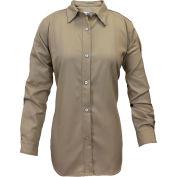 ArcGuard® Women's Flame Resistant Work Shirt in UltraSoft, XL, Tan, SHRUKWXLRG