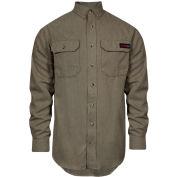 TECGEN Select® Flame Resistant Work Shirt, 2XL-LN, Tan, TCG01120226