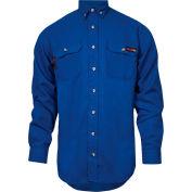 TECGEN Select® Flame Resistant Work Shirt, 2XL-LN, Royal Blue, TCG01130226