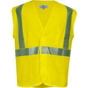 VIZABLE® Flame Resistant Standard Hi-Vis Mesh Safety Vest, ANSI Class 2, Type R, 2XL, Yellow
