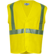 VIZABLE® Flame Resistant Standard Hi-Vis Mesh Safety Vest, ANSI Class 2, Type R, XL, Yellow