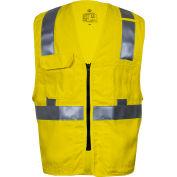 VIZABLE® Flame Resistant Hi-Vis Standard Vest, ANSI Class 2, Type R, 3XL, Yellow
