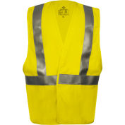 VIZABLE® Flame Resistant Hi-Vis Contractor Safety Vest, ANSI Class 2, Type R, L, Yellow