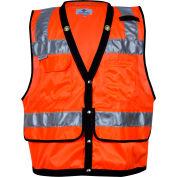 VIZABLE® Mesh Construction Survey Vest, ANSI Class 2, Type R, 3XL, Orange