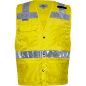 VIZABLE® Hi-Vis Deluxe Road Vest, ANSI Class 2, Type R, S, Yellow