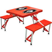 Picnic Table - Red (U Of Georgia Bulldogs) Digital Print - Logo