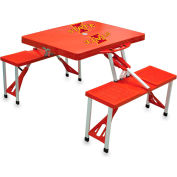 Picnic Table - Red (Iowa State Cyclones) Digital Print - Logo