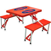 Picnic Table - Red (U Of Mississippi Rebels)  Digital Print - Logo