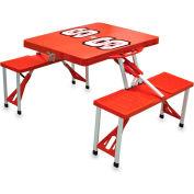 Picnic Table - Red (N. Carolina State Wolfpack) Digital Print - Logo