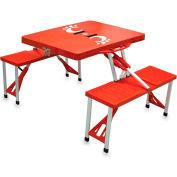 Picnic Table - Red (U Of Cincinnati Bearcats) Digital Print - Logo