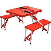 Picnic Table - Red (Northeastern U Huskies) Digital Print - Logo