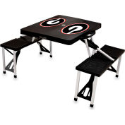 Picnic Table - Black (U Of Georgia Bulldogs) Digital Print - Logo