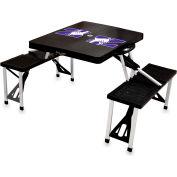 Picnic Table - Black (Northwestern U Wildcats) Digital Print - Logo