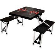 Picnic Table - Black (Texas Tech Red Raiders) Digital Print - Logo