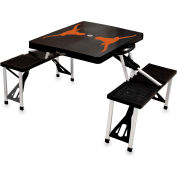 Picnic Table - Black (U Of Texas Longhorns) Digital Print - Logo